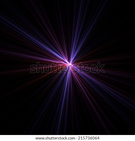 Colorful star illustration with black background