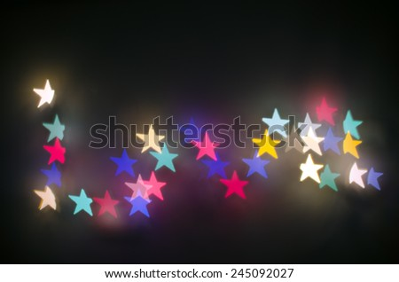 Colorful star love bokeh background for valentines day