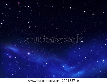 colorful stars night sky - stock photo