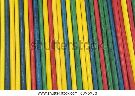 colorful sticks for decor or gaming