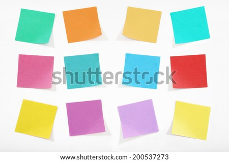 colorful sticky notes  2
