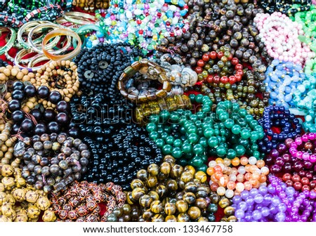 colorful stone Bracelet - stock photo