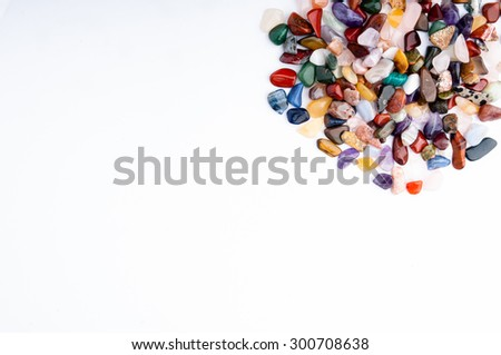 Colorful stones for background usage and leave center for filling in with text