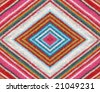 Colorful striped alpaca woolen fabric detail. More of this motif & more fabrics in my port. - stock photo