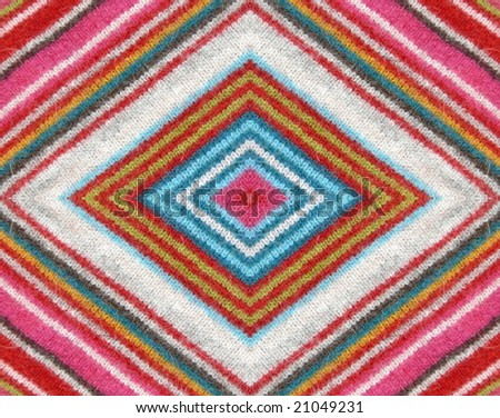 Colorful striped alpaca woolen fabric detail. More of this motif & more fabrics in my port.