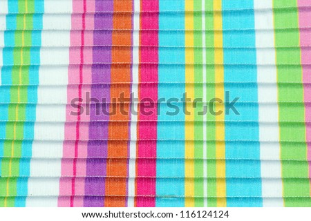 Colorful Striped Fabric - stock photo