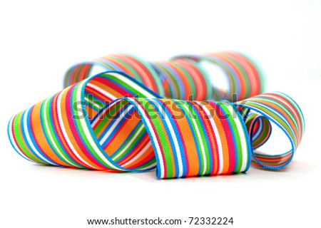 Colorful striped ribbons