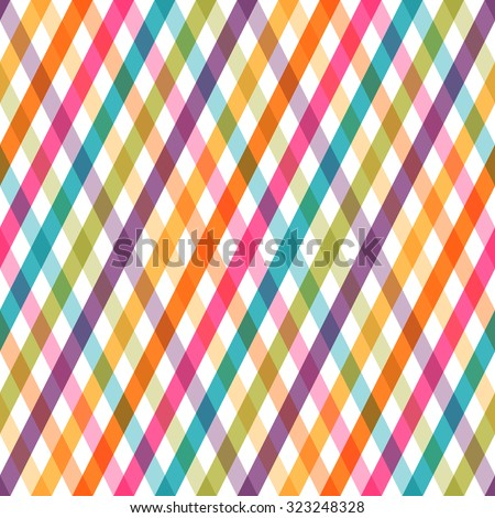 Colorful striped seamless pattern. - stock photo