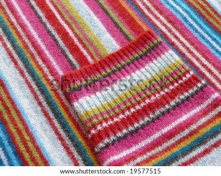 Colorful striped woolen fabric. More fabrics in my port.