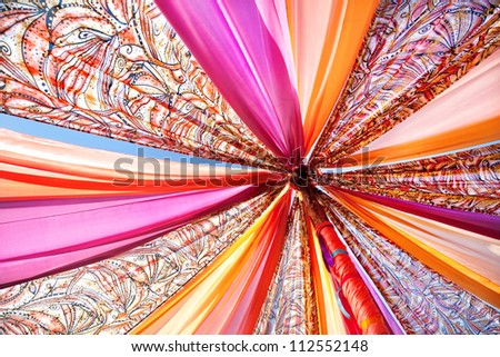 Colorful stripes of cloth background - stock photo