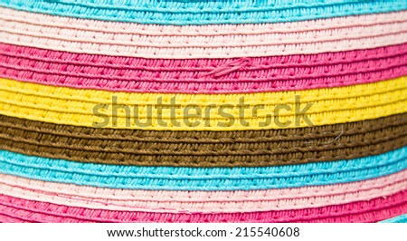 Colorful stripey fabric as a background - stock photo