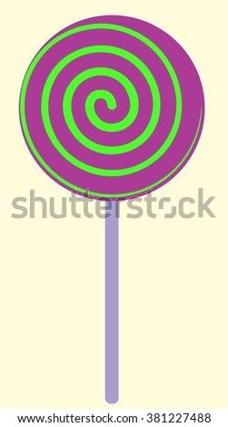 Colorful Sugar Lollipop