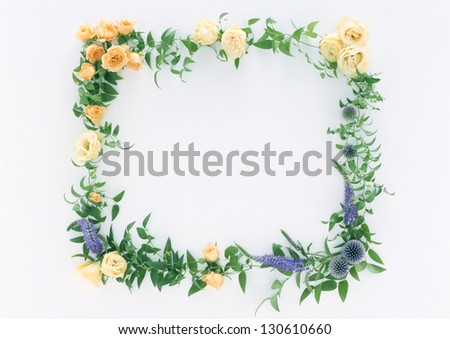 colorful summer flowers - stock photo