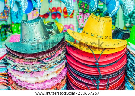 Colorful summer hats for sale