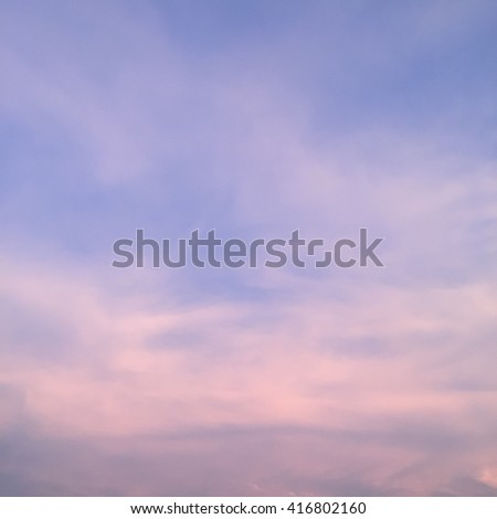 colorful sunset sky - stock photo