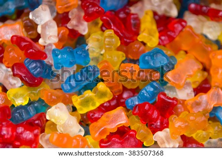 Colorful sweet candy bear chewy