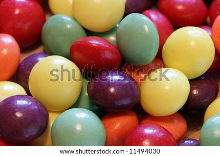 colorful sweet dragees