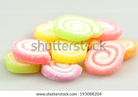 colorful sweet fruit jelly candy - stock photo