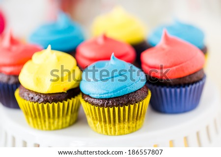 Colorful sweets for kids birthday party celebration.