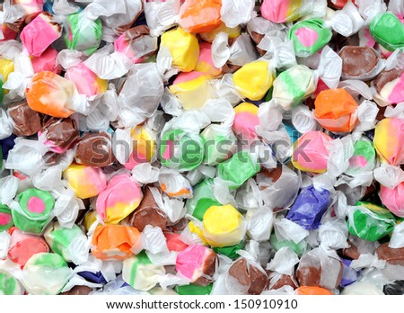 colorful taffy candies for background uses - stock photo