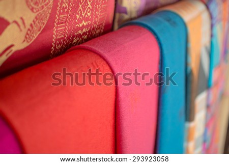 Colorful textile - stock photo