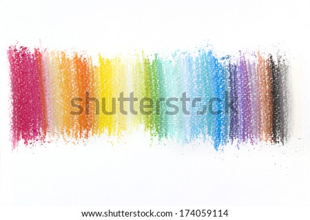 Colorful texture made with pastel sticks - stock photo