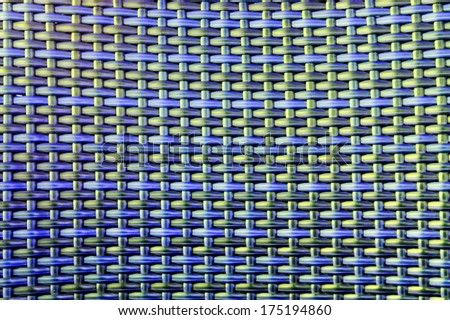 Colorful texture of rattan, wicker basket material - stock photo