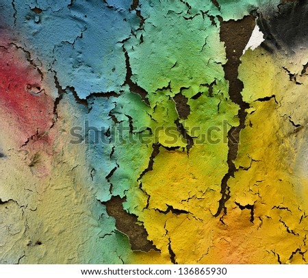 Colorful texture with rough and cracked as great artistic - stock photo