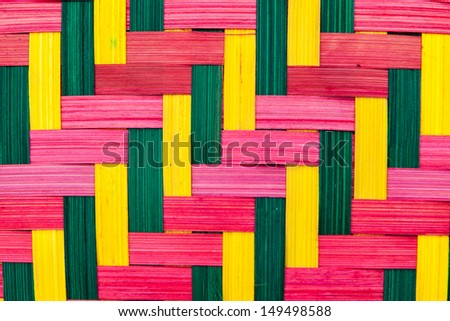Colorful textured basket weaving - stock photo