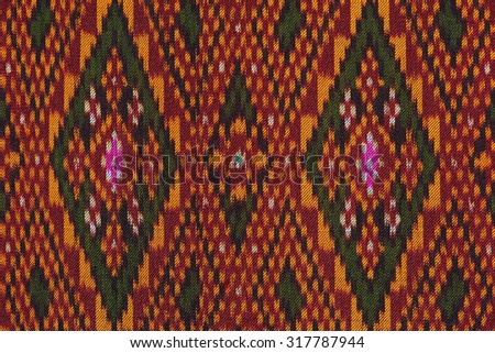 Colorful thai siik handcraft  textiles  beautiful background  detail pattern