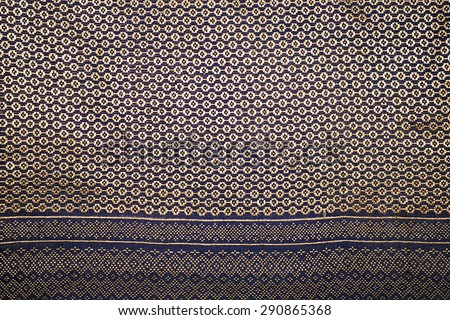 Colorful thai silk handcraft peruvian style rug surface close up - stock photo
