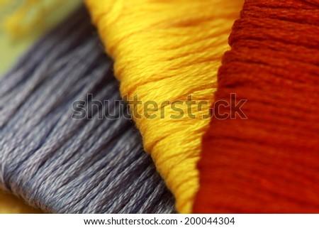 colorful thread  - stock photo