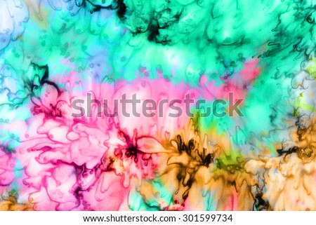 colorful tie dye pattern abstract background  - stock photo