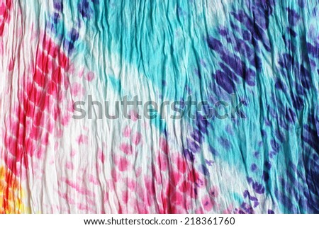 colorful tie dye pattern for background. - stock photo
