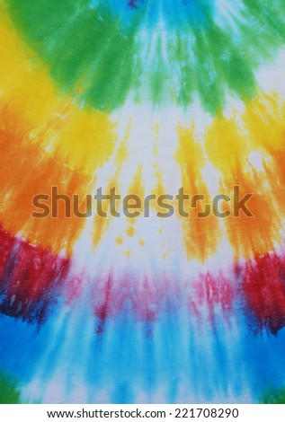 colorful tie dyed fabric background.