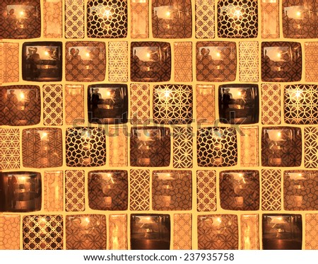 Colorful tile background with sun light. - stock photo