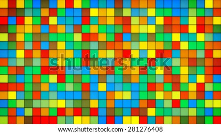 colorful tiles glass mosaic. computer generated abstract background - stock photo