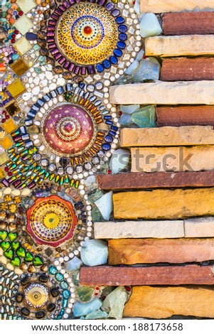 colorful tiles mosaic,background  - stock photo