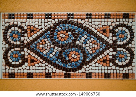 Colorful tiles wallpaper - stock photo