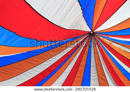 Colorful top of tent as abstract background - stock photo