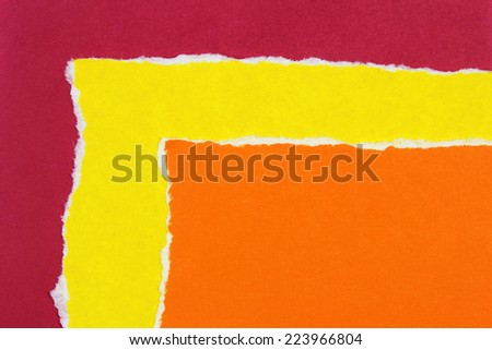colorful torn paper - stock photo