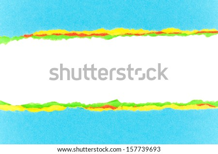Colorful torn paper background with space for your text