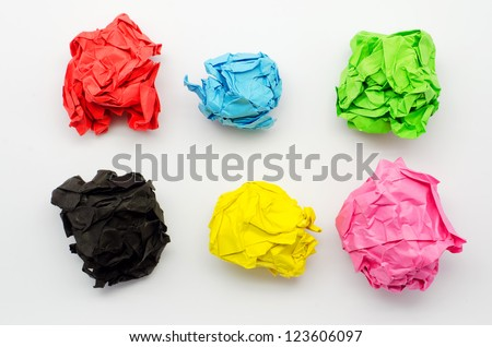 Colorful torn Paper isolated