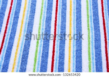 Colorful towel as a background.