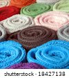 Colorful towels - stock photo