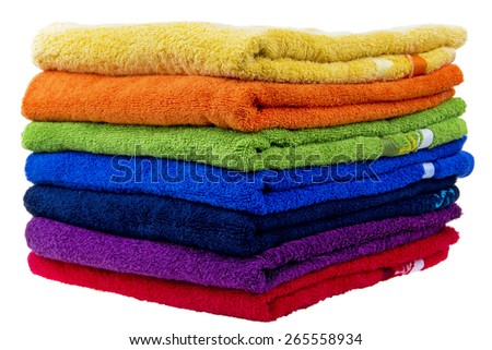 Colorful towels, cotton terry