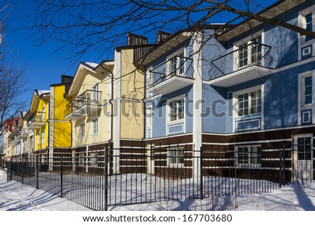 Colorful town houses