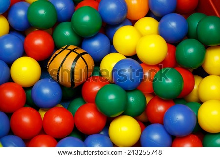 Colorful toy balls