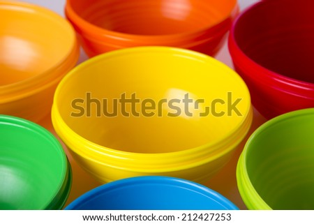 Colorful toy cups