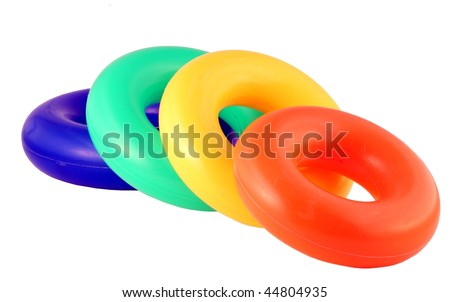 Colorful toy isolated on pure white - stock photo